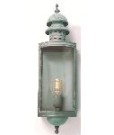 Elstead DOWNING STREET V Solid Brass Wall Lantern in Verdigris